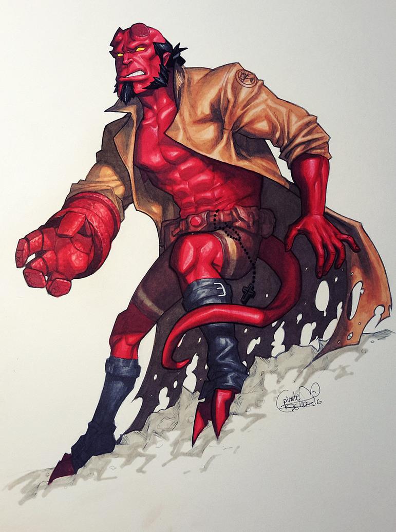Hellboy by Pirate-Cashoo