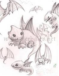 Dragon concepts by Aerhalev