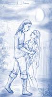 Gilthanas and Silvara sketch
