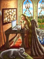 Freyja's Morning by Aerhalev