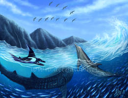 Blue Harmony by Aerhalev