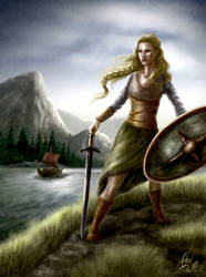 Shieldmaiden by Aerhalev