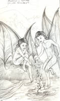 Young Maeliux and Meridae sketch