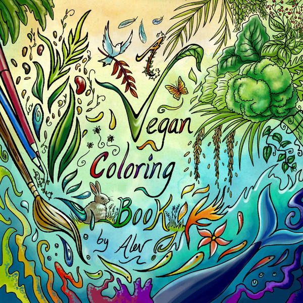 A Vegan Coloring Book Cover by Aerhalev
