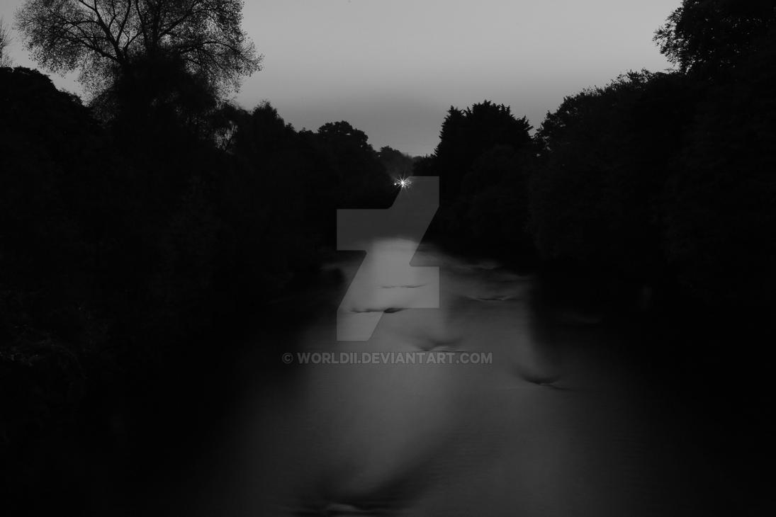 The River Taff At Night by WorldII