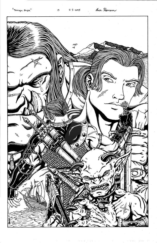 My first cover desgin for Terraga saga. by Ogrebreed