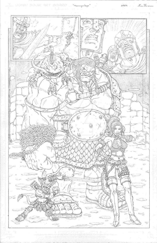 Terraga comic page. by Ogrebreed