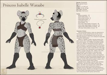 Princess Isabelle Waraabe Character Sheet