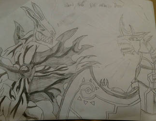 Silent Naga Vs Infinity Dragonoid by ZenithDragons