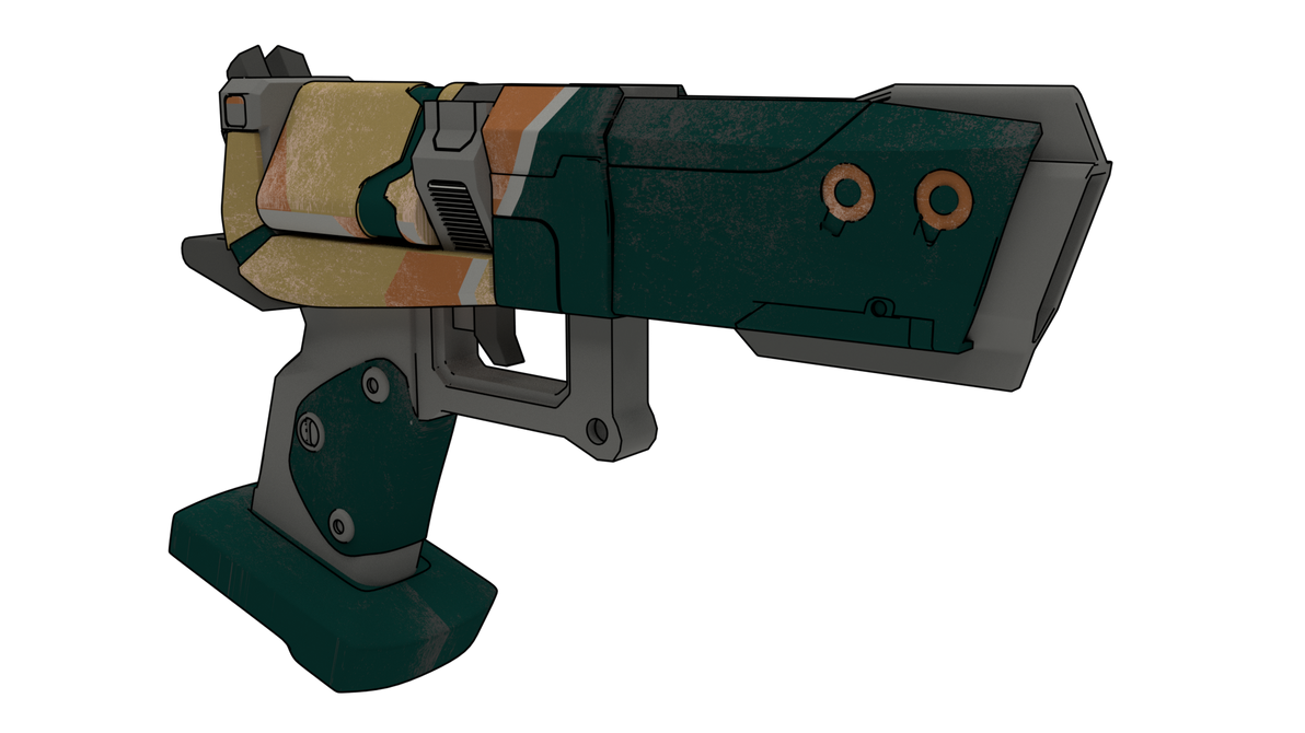 Borderlands 2 Aegis 3D model (3Dhelix) by ValterJHerson