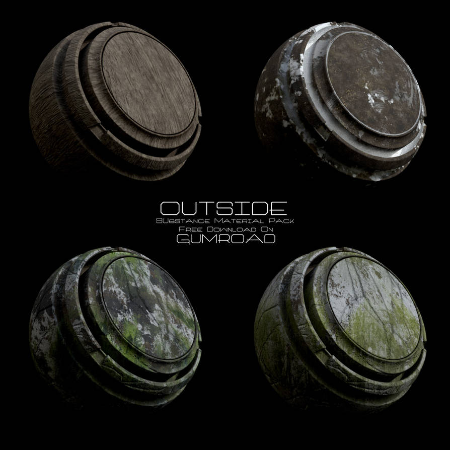 Outside Substance Material Pack (Free Download!) by ValterJHerson on