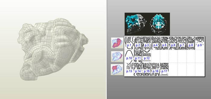 Pepakura papercraft sci-fi helmet free download