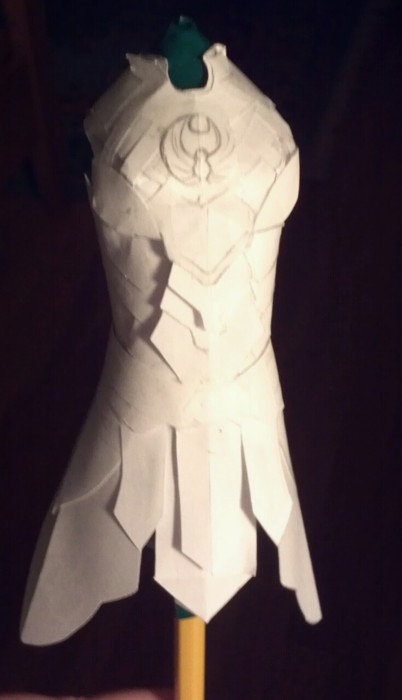 paper Nightingale armor by aretenike