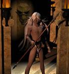 Gatekeeper at the Skull Temple