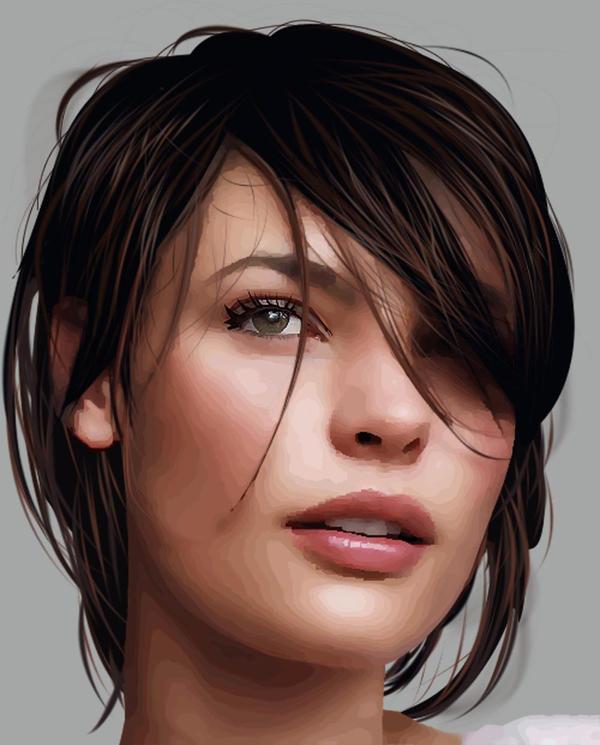 Beautiful Brunette by SupaSmashSketcher