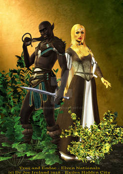 Racial examples: Troq warrior and Endae Diplomat