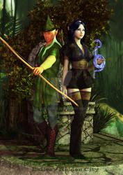 Racial examples: Kruss hunter and Siyan wizard