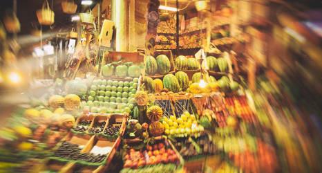 Fruit Bazaar in Istanbul