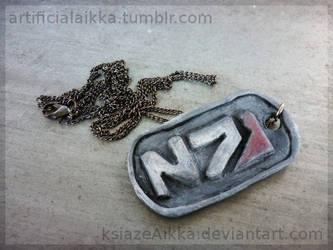 N7 dog tag thingy by ksiazeAikka
