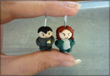 Jeff and Deacon charms by ksiazeAikka