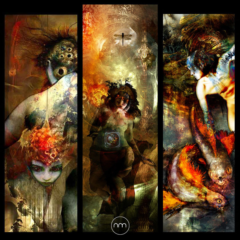 metamorphosis - triptych by OrgaNick