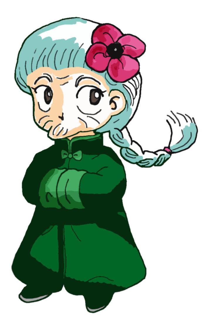 Grandma Ranko Female Ranma Colored By Karin Karukami
