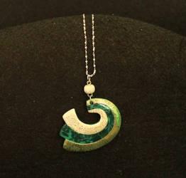 Green wave pendal by LaFataRosa