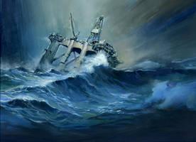 Sunken Ocean Ranger by charlesvinh