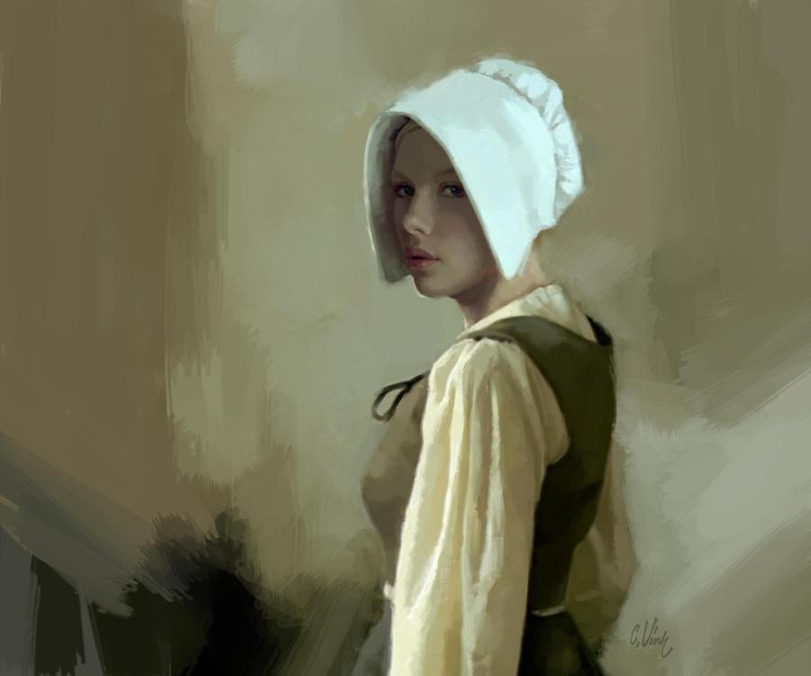 La fille au bonnet by charlesvinh