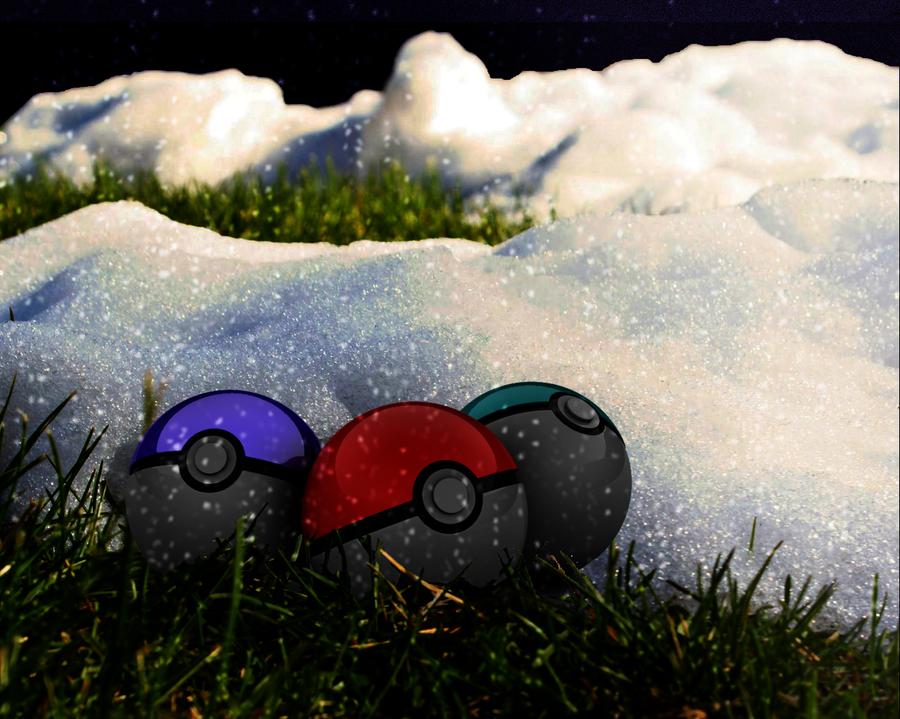 Snowy Pokeballs =) by Chakaluki
