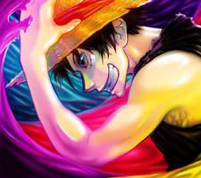 Happy B-day Luffy by Zinfer