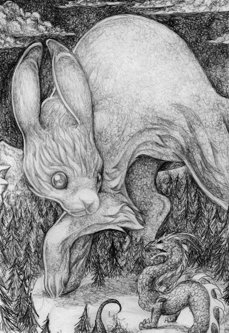 Rabbit vs dragon by zinfer on deviantart rabbit vs dragon by zinfer altavistaventures Image collections