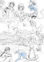 Blue Gold and Pale sketchdump by Zinfer