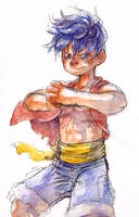 Another Luffy Watercolor by Zinfer