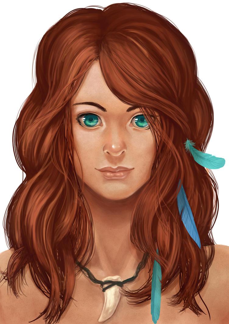 Girl Portrait by Zinfer