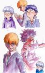 Mob Psycho 100 Watercolor Doodles
