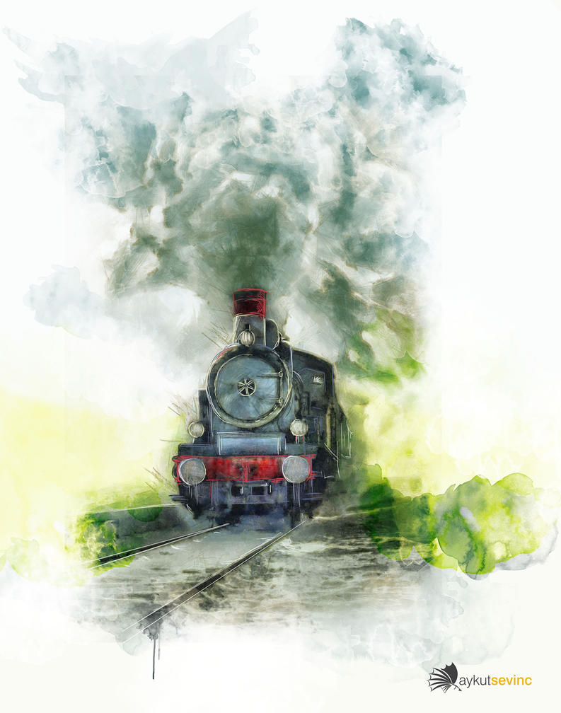 train water color by aykutarts on DeviantArt