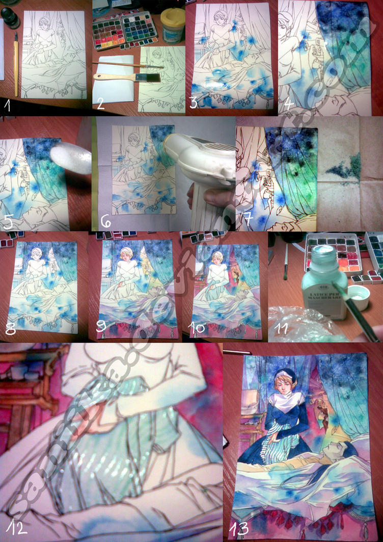 Watercolor salt tutorial by saniika on deviantart for Watercolor drawing tutorial
