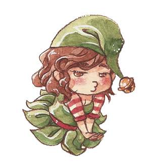 Xmas elf self XD by saniika