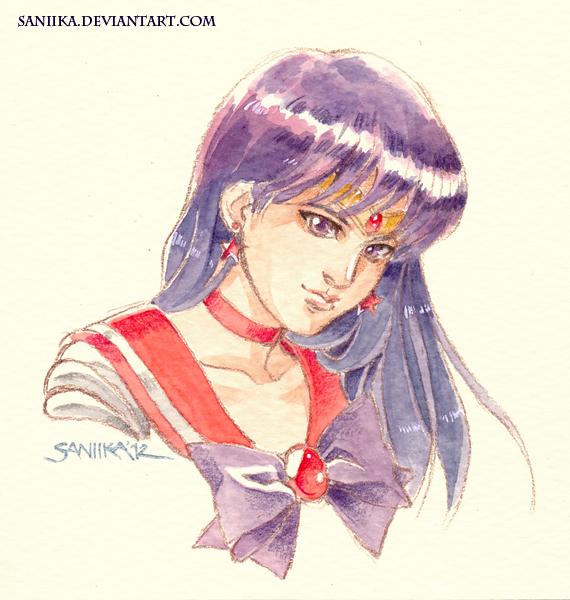 Sailor Mars Vignette by saniika
