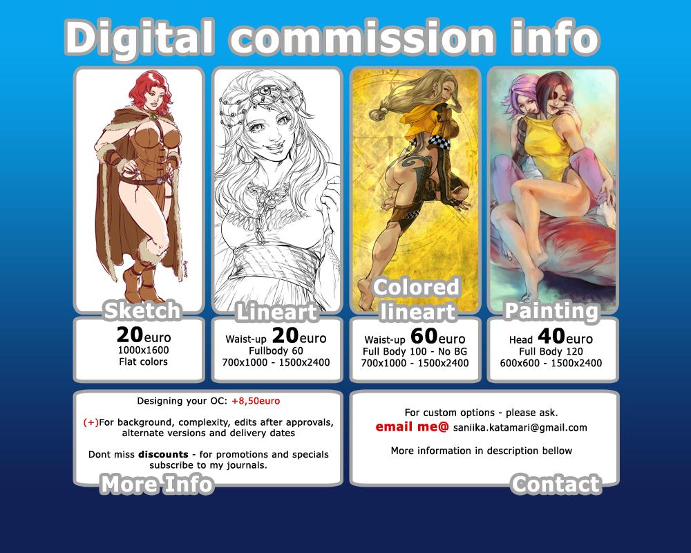 Digital commission information by saniika