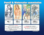 Pencil and Watercolor commission information