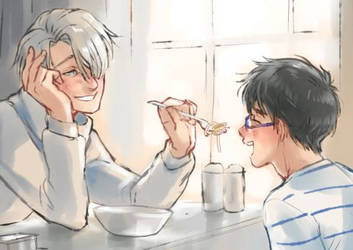 Before and After: Food - part 1, Yuuris present by saniika
