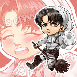 Chibi: Levi Ackerman by saniika