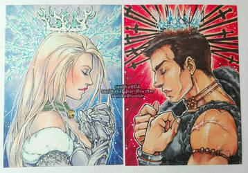Commission: Verril and Maia by saniika