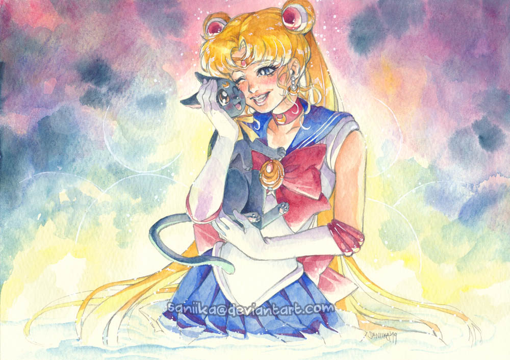 Sailor Moon: With Luna by saniika