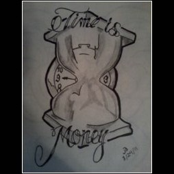 The gallery for money over everything tattoo designs for Time is money tattoo