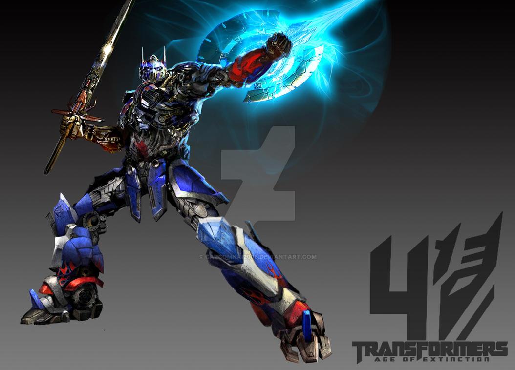 TF4  AOE Optimus prime fan art by capcomkai2008