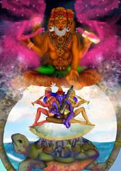 Brahma, Maya y Gandarvas by Paox159