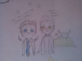 Dean likes stars. Sure. by MrsSandy